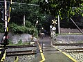 Level crossing of Sanin Main Line (Sagano Line) near Sagano Bamboo Forest 20141009.JPG