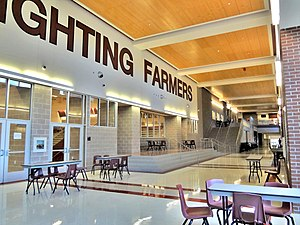 Lewisville High School - Inside the new Lewisville High School main campus, which opened in 2012.