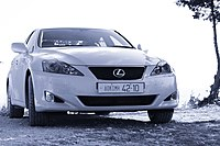 The first Lexus diesel-powered vehicle, the IS 220d.