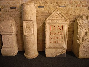 Aventicum - Carved limestone objects from Aventicum