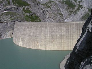 Linth–Limmern Power Stations Dam in Linthal, Glarus Süd