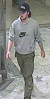 Surveillance photo of Lindh's confessed assassin, Mijailo Mijailović.