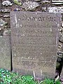 Linguistic history on a gravestone - geograph.org.uk - 1264675.jpg