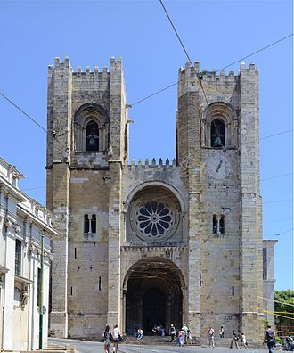 Lisbon Cathedral - Façade of Lisbon Cathedral