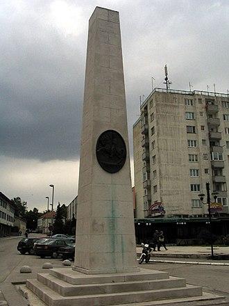 Tomislav of Croatia - Image: Livno, Bosna i Hercegovina, obelisk iz 1925., ploča