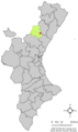 Localització d'Argeleta respecte del País Valencià.png
