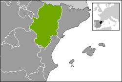 Map of Aragon