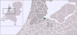 Location map showing Diemen in North Holland and the Netherlands