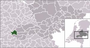 Asperen - Image: Locatie Lingewaal