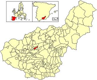 Alfacar - Image: Location Alfacar