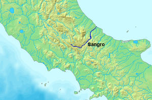 Sangro - Image: Location Sangro River