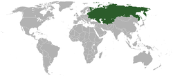 Location of Soviet Union