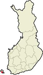 Mariehamn sur la mapo de Finnlando
