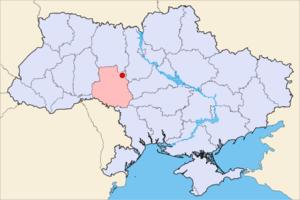 Погребище на карте района