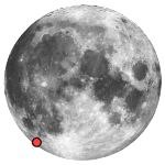 Location of lunar crater wargentin