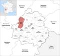Locator map of Kanton Ribérac 2019.png