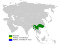 Locustella luteoventris distribution map.png
