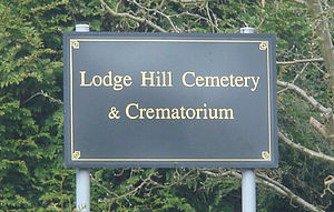 Lodge Hill Cemetery - Image: Lodge Hill Sign