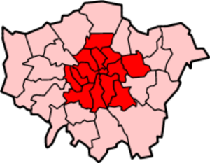 Inner London - Image: London Inner Census