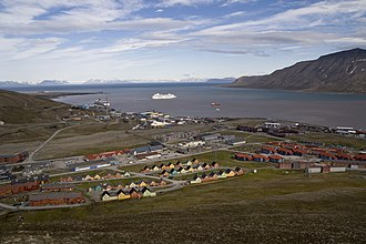 Longyearbyen - Parts of the town of Longyearbyen in July 2011