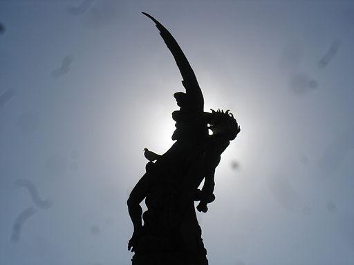 Lucifer expulsado del Paraíso. Parque del Retiro. Madrid