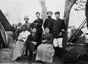 Lunda people - The members of the Lunda delimitation commission; also Mme. Sarmento and Mrs. Grenfell