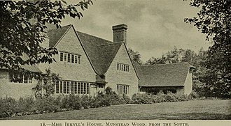 Munstead Wood - The house from the southwest, 1921