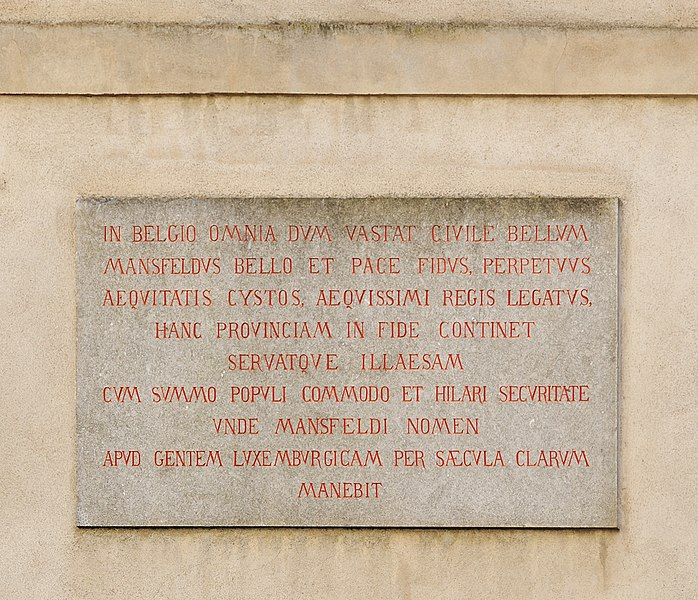 Fichier:Luxembourg City Grand Ducal Palace plaque N.jpg