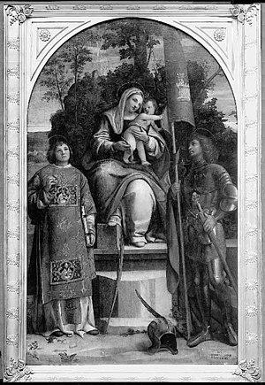 Morto da Feltre - Enthroned Madonna and Saints