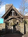 Lych gate, Christchurch parish church, Newport - geograph.org.uk - 1726697.jpg