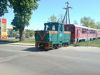 PKP class Lyd1 - WLs150 from a rear, leading a tourist train