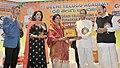 M. Venkaiah Naidu giving away Udyog Ratna award to the Managing Director of Margadarshi, Smt. Sailaja Kiran, at the 30th Ugadi Celebrations& Puraskar Presentation - 2018, organised by Delhi Telugu Academy, in New Delhi.jpg