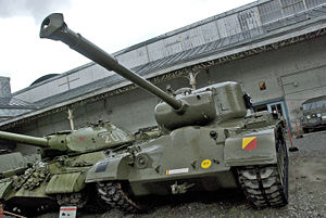 Mutual Defense Assistance Act - The Patton Tank family (here a Belgian M46) was the  direct result of the revival of the late 1940s US armament modernization program framed by the MDAA