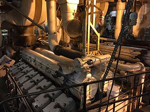 Marine Engineers' Beneficial Association - Colleges like the California Maritime Academy train engineering cadets in engine rooms who may seek to join M.E.B.A. after graduating.