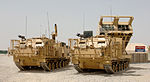 MLRS (Multiple Launch Rocket System) Vehicles at Camp Bastion, Afghanistan MOD 45148148.jpg