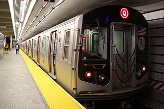Q (New York City Subway service) - A Q train of R160B cars at 96th Street
