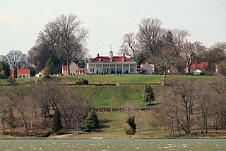 Mount Vernon Plantation estate of George Washington, in Fairfax County, Virginia, USA