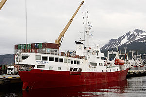 MV Antarctic Dream in the port of Ushuaia, December 2013