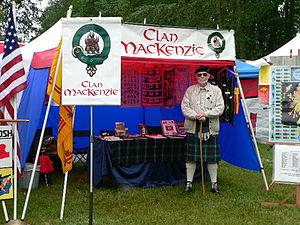 Clan Mackenzie - Clan Mackenzie tent at the 2005 Bellingham Highland Games