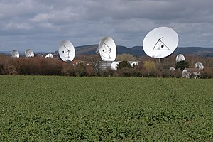 Madley Communications Centre - Earth receiving dishes