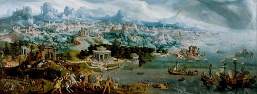 Maerten van Heemskerck - Panorama with the Abduction of Helen Amidst the Wonders of the Ancient World - Google Art Project