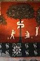 Maestro lombardo, puttini tra alberi con cartigli, finti drappeggi e stemmi araldici, 1423, 15.jpg