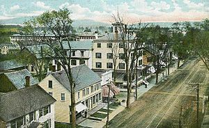 Norway, Maine - Image: Main Street from Opera House, Norway, ME