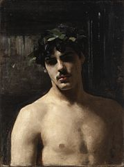 Man Wearing Laurels