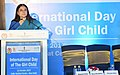 Maneka Sanjay Gandhi addressing the gathering on the occasion of the International Day of the Girl Child, organised by the Ministry of WCD in collaboration with UNICEF India, in New Delhi (1).jpg