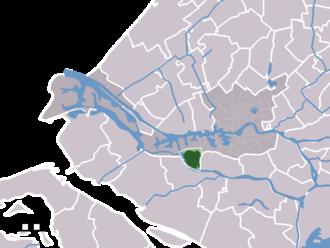 Hoogvliet - Image: Map NL Rotterdam Hoogvliet