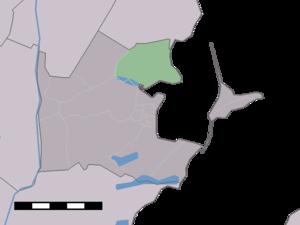 Katwoude - Image: Map NL Waterland Katwoude
