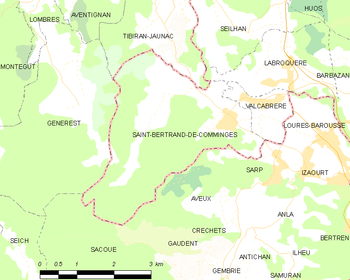 Map of the commune de Saint-Bertrand-de-Comminges