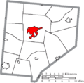 Map of Clinton County Ohio Highlighting Wilmington City.png