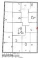 Map of Darke County Ohio Highlighting Bradford Village.png
